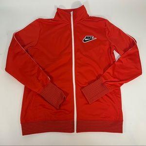 Nike Women's Pregame Track Zip Up Jacket Red Sz L